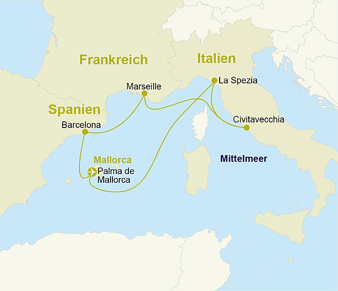 Westliches Mittelmeer Kreuzfahrt Mit Aidanova Ab Bis Mallorca