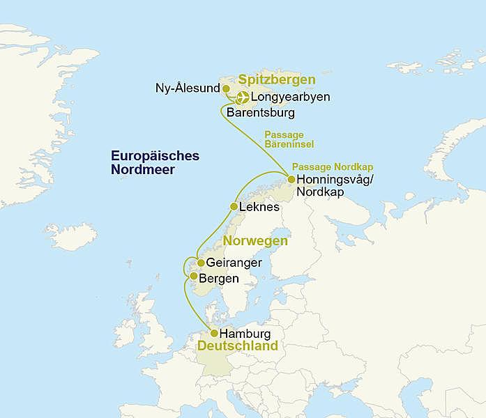 Norwegen Spitzbergen Kreuzfahrt Ms Hamburg
