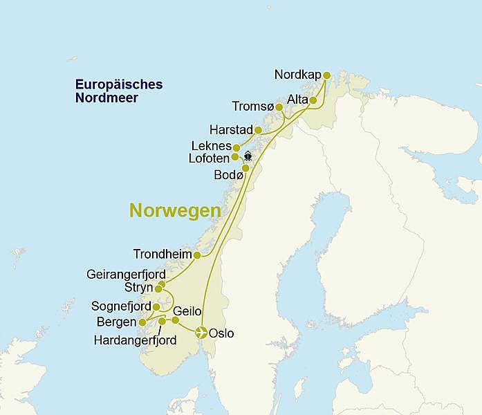 Norwegen Rundreise Bis Ans Nordkap