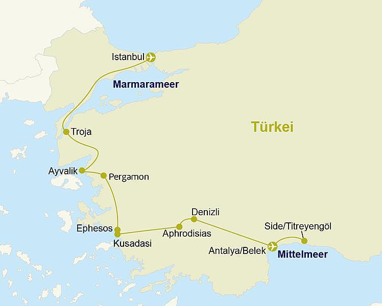 Turkei Rundreise Von Istanbul Bis Antalya Belek Erholen In Side